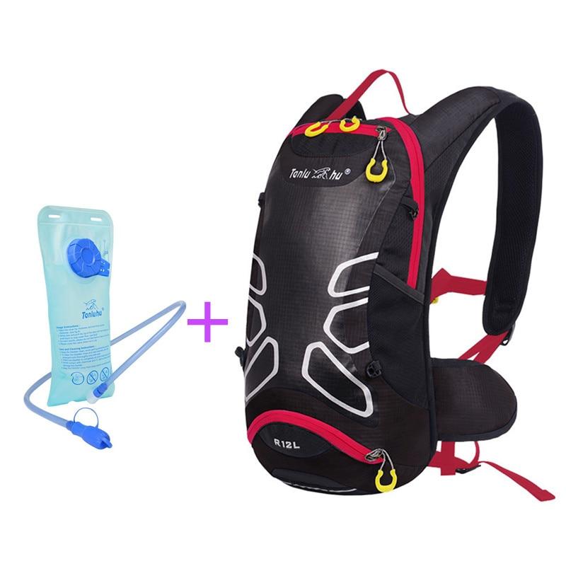 Beg sukan luar Berkhemah ransel 12L Beg berbasikal Beg penghidratan air Poliester kalis air + Pundi kencing air 2L (Pilihan)