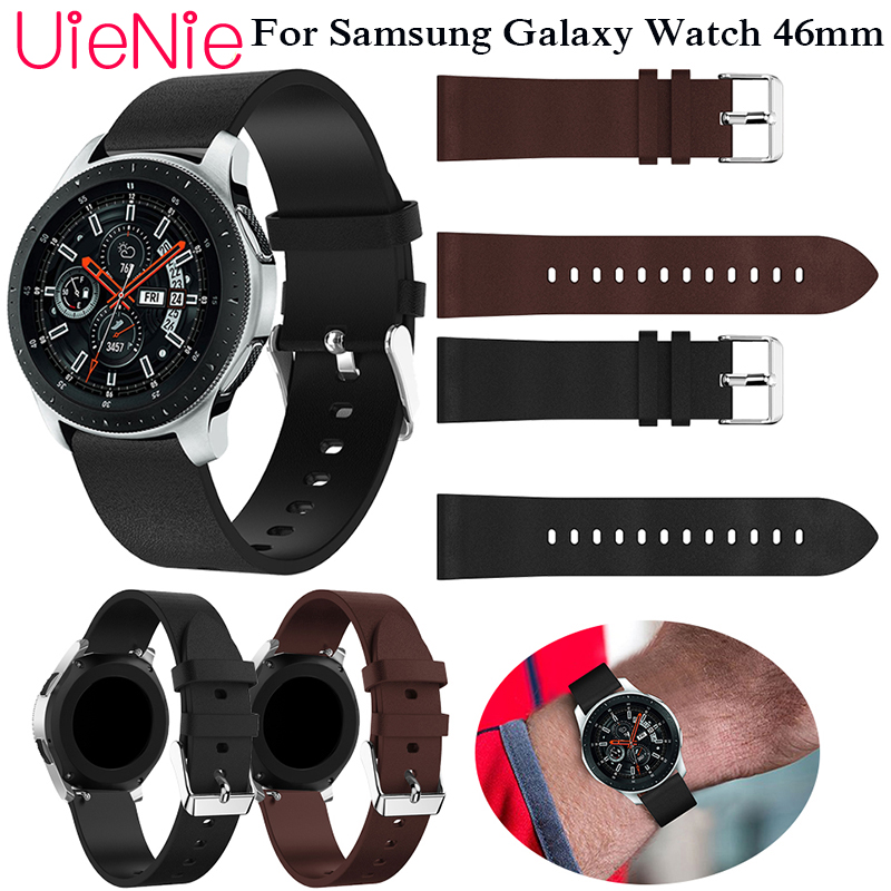 Genuine Classic Leather Strap For Samsung Gear S3 22mm Band Frontier Galaxy 46mm Watchband  wristband