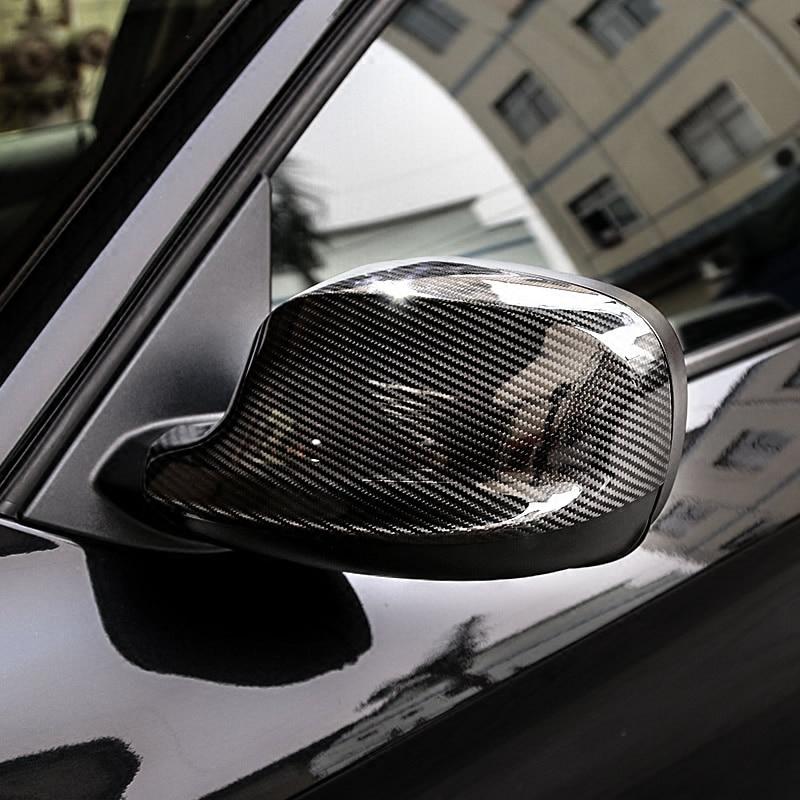 Fibre de carbone voiture Reaview couverture de miroir vue arrière porte côtés casquettes garniture de coque pour BMW 1 2 3 4 5 7 série X1 X3 X4 X5 X6 E90 F10 F30