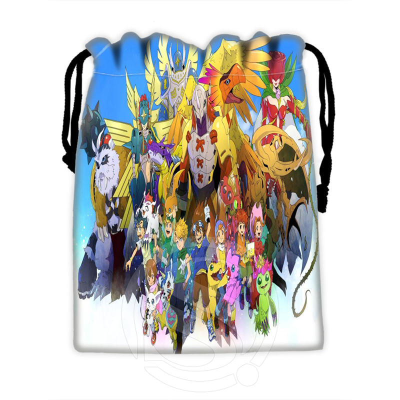 Fashion Design Custom Digimon 3 drawstring bags for mobile phone tablet PC packaging Gift Bags18X22cm SQ00715