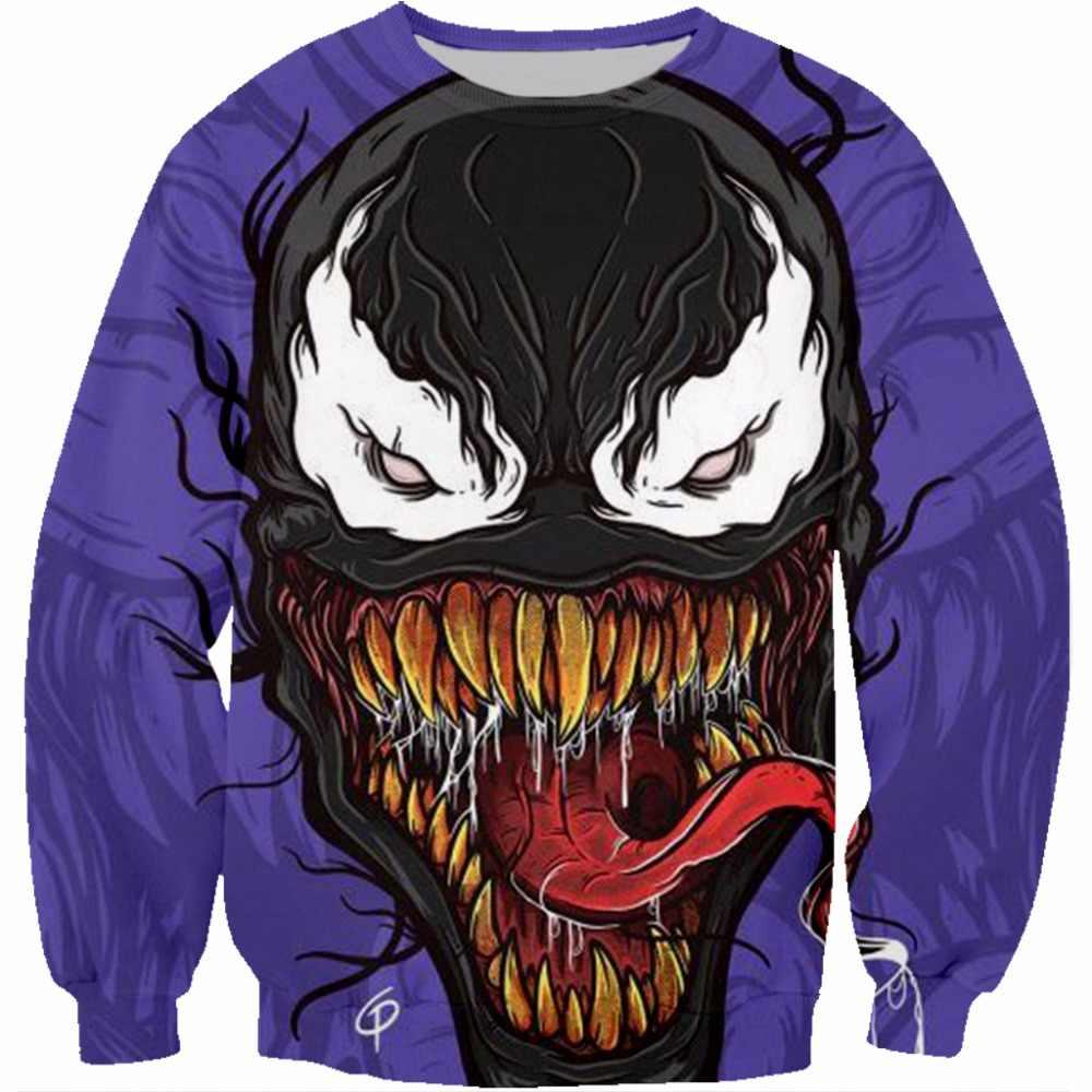 PLstar Cosmos Neue Super hero Kinder Sweatshirts Venom Schädel 3D Druck jungen Casual langarm Mit Kapuze Tasche Pullover Männer Tops