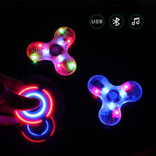 Spinner LED Bluetooth Hand Speaker Music Light Figet Spinner Toys Stress Relief Kids Gift For Autism ADHD Anxiety