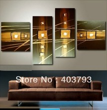 buy at disscount price 2013 4pc NEW MODERN ABSTRACT HUGE WALL ART OIL PAINTING ON CANVAS(no framed)  (no free shipping
