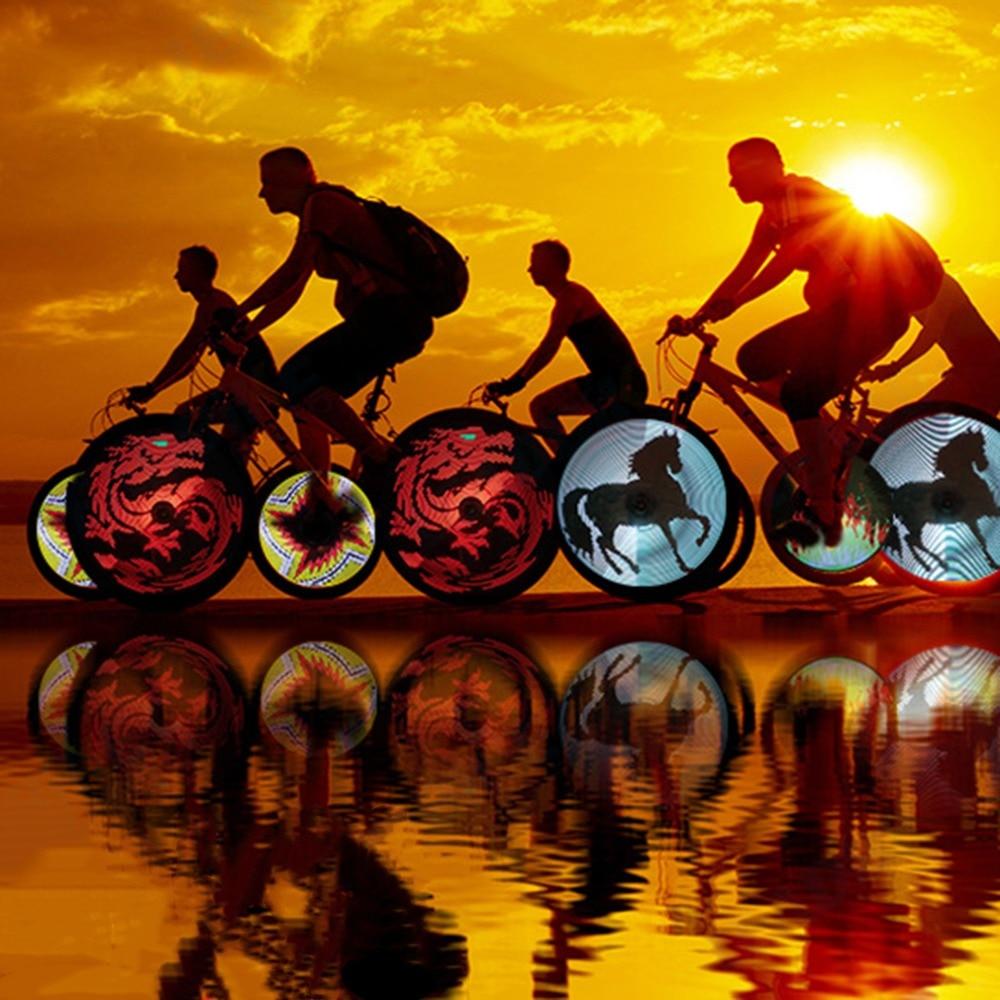 Leadbike Wind And Fire Wheel Popular DIY Bike Light Waterproof Bike Tire Wheel Light Programmable LED Double Sided Display(China)