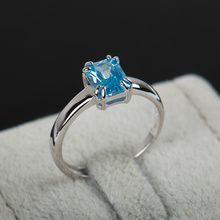 2016 New Arrival adjustable ring Fashion 925 sterling silver ring high quality natural Zircon rings for women with free gift box(China)