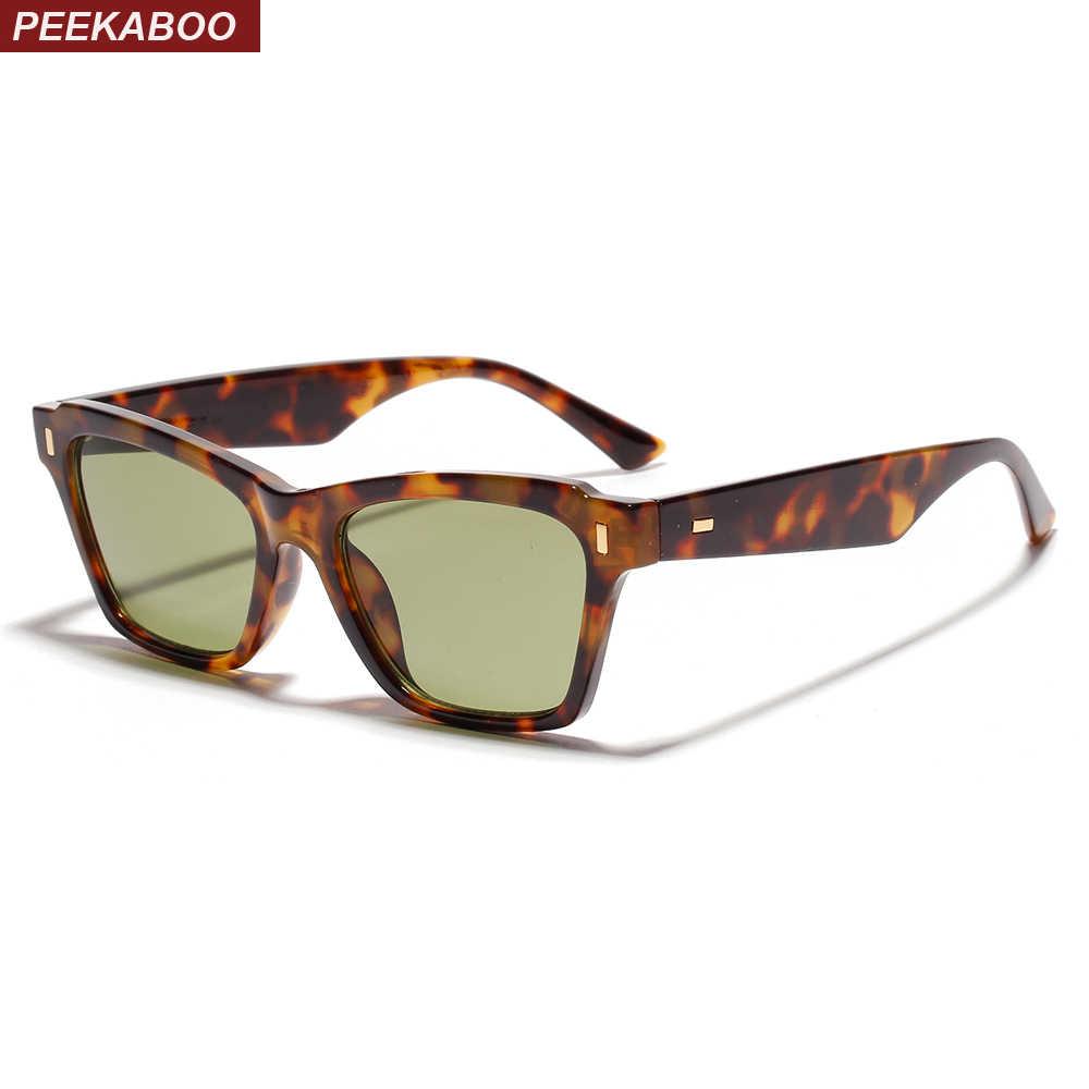 3511243006002 Peekaboo retro rivet sunglasses square men unisex small square sun glasses  for women fashion UV400 black