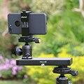Micro 1 de bolso pequeno controle deslizante, mini portátil compacto câmera trilha vídeo slider para lumix gh5 dslr filmadora, para iphone smartphones