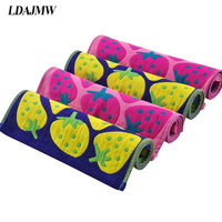 3PCS Cotton Strawberry Pie Amall Towel Gauze Scarf For New Baby Children Kids Gift Man Woman