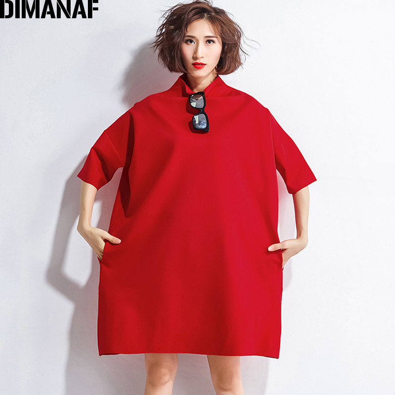 DIMANAF Autumn Dresses Women Turtleneck Cotton Knitting Femme Clothes Elegant Solid Vestidos Plus Size Fashion Ladies Dress 2018 1