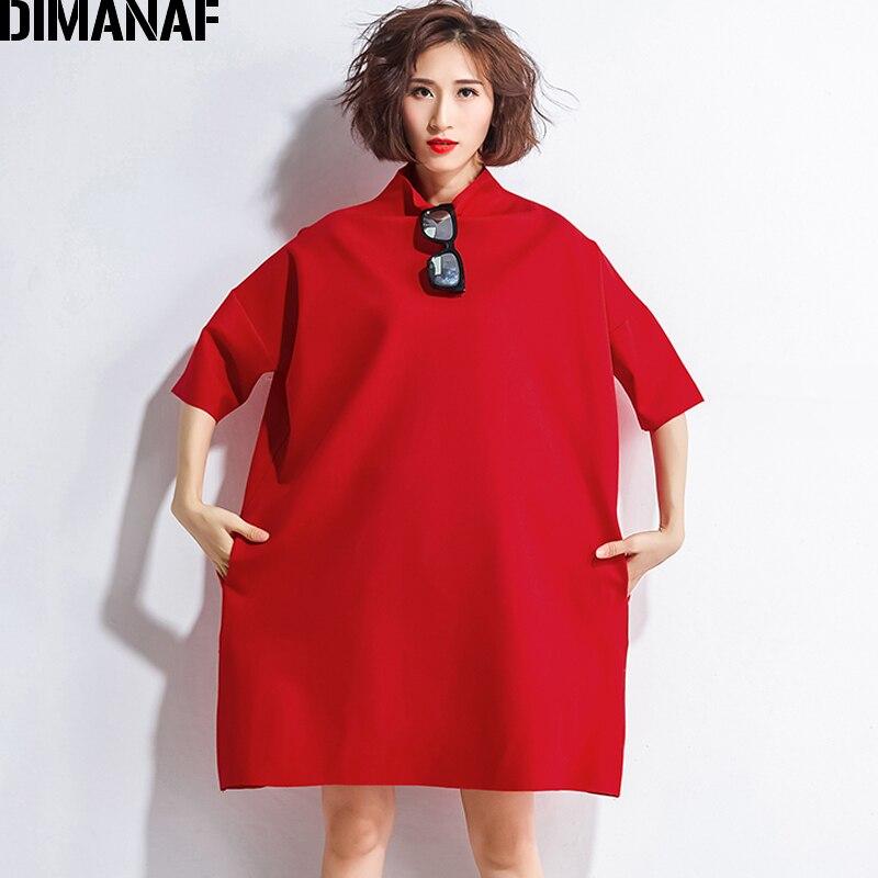 DIMANAF Autumn Dresses Women Turtleneck Cotton Knitting Femme Clothes Elegant Solid Vestidos Plus Size Fashion Ladies Dress 2018 1