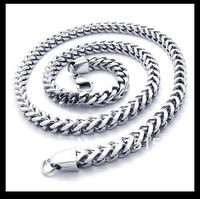 Free Shipping 55cm 6 5mm Hot Selling Hand Stamped 316L Stainless Steel Necklace Men S Silver
