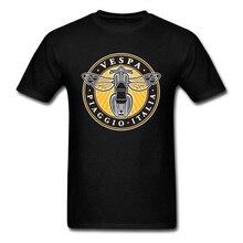 Latest Vespa Tee Shirt Motorbike Top Quality Fashion Brand Leisure Mens Tshirt Logo Design Cotton Tops Tees Camisetas