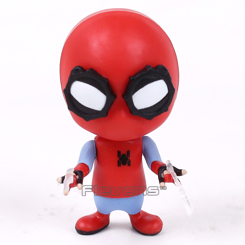 Spider Man Homecoming The Spiderman Q Version Bobble Head Doll PVC Action Figure Collectible Model Toy 9cm