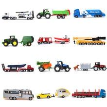 Siku литая под давлением модель автомобиля металлический материал детские игрушки грузовик-цистерна прицеп автобус Коллекция украшения Игрушечная модель автомобиля