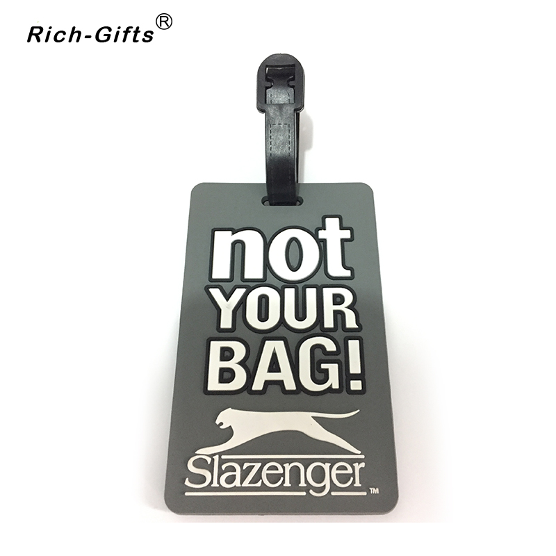 NOT YOUR BAG PVC Soft Rubber Rectangle Luggage Tag