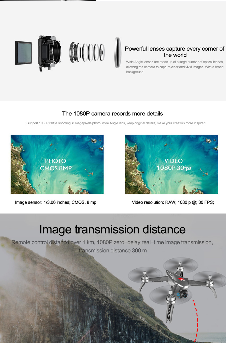 7.MJX Bugs 5 W B5W RC Drone RTF 5G WiFi FPV 1080P Camera With GPS Follow Me Mode RC Quadcopter vs MJX Bugs 2 B2W Helicopters D30