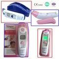FDA CE Digital Ear infra-red Thermometer Dual-Mode LCD Ear/Forehead Laser Pink+blue