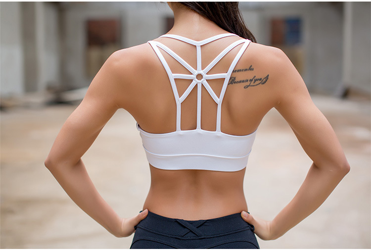 Breathable Strappy Yoga Bra