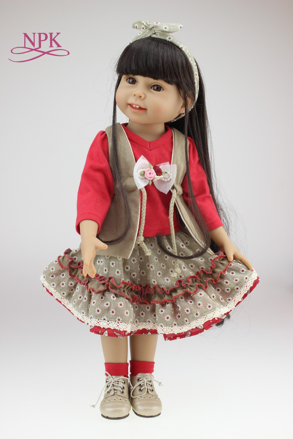 18inch 45cm Doll Fashion Full Vinyl Girl Bjd Doll Collection SD Realistic doll Alive Toys Handmade Kids Princess18inch 45cm Doll Fashion Full Vinyl Girl Bjd Doll Collection SD Realistic doll Alive Toys Handmade Kids Princess