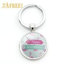 TAFREE – porte-clés image flamant rose, Design, Super maîtresse, pendentif, cadeau, vente en gros, MM64