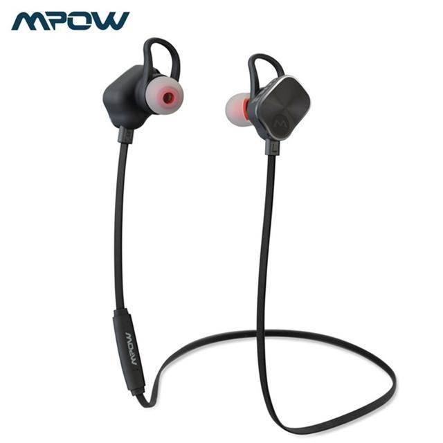 2016 nueva mpow magneto usable deportes estéreo inalámbrico bluetooth en la oreja los auriculares con control de volumen micorphone
