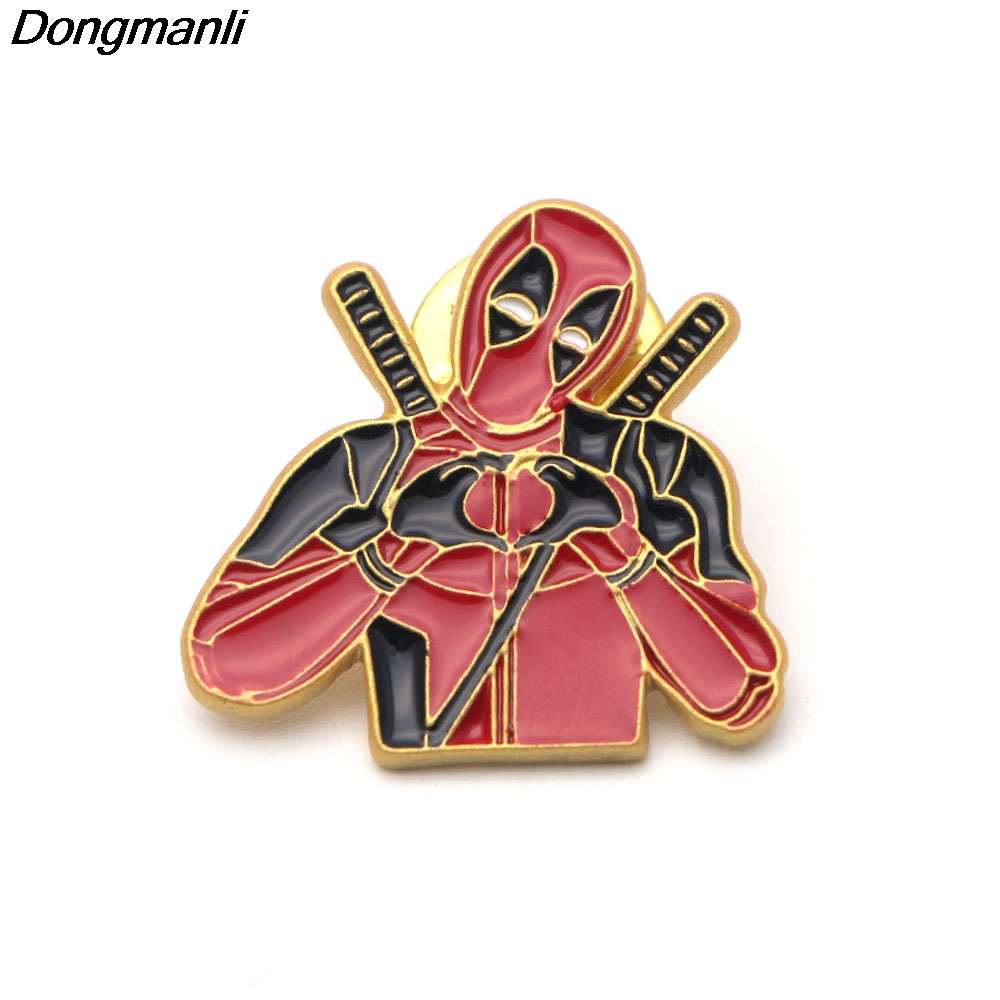 P2306 Dongmanli I Love You Lapel Pin Fashion Brooches Badges Denim Clothes Bag Pins Gift for Friends image