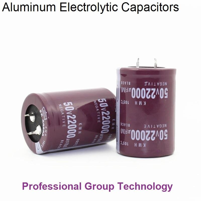 1pcs Good Quality 50v22000uf Radial DIP Aluminum Electrolytic Capacitors 50v 22000uf Tolerance 20% Size 35x50MM 20%