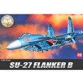 Academy modelo 12270 1/48 escala aviões SU-27 Flanker lutador B modelo de montagem kits escala modelo de avião de construção kits