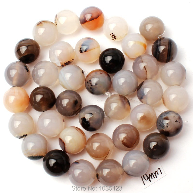 Free Shipping 10mm Smooth Mixed Color Agates Round Shape Gems Loose Beads Strand 15 DIY Creative Jewellery Making w3081