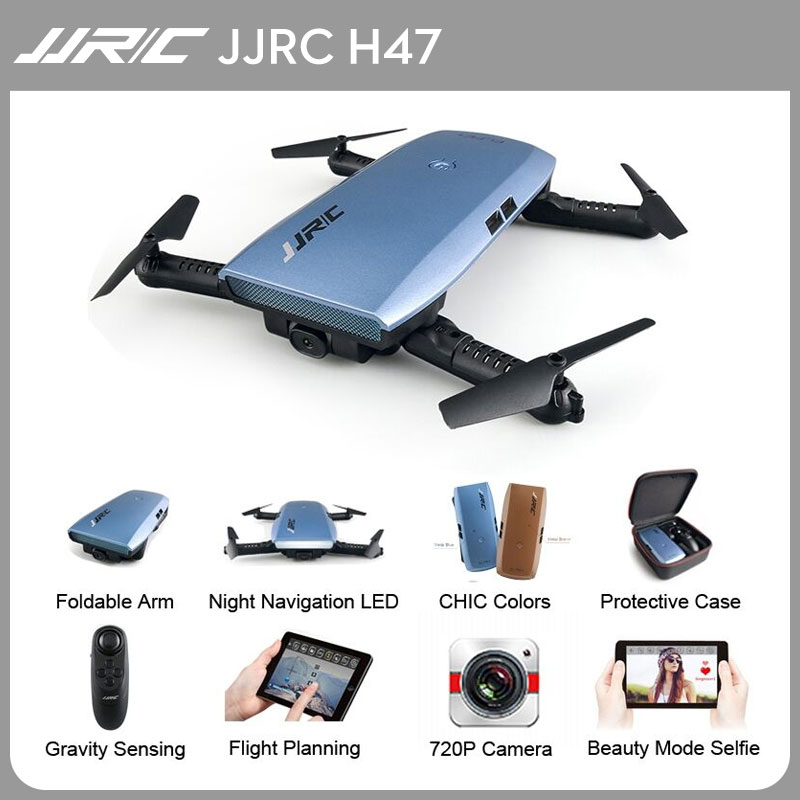 JJRC H47 Selfie Mini Foldable Drone with HD Camera FPV G-sensor Upgraded Foldable Arm Controller Aerobatic Flight Quadcopter jjrc h37 elfie wifi fpv drone with 2 0mp camera foldable g sensor mini rc selfie rc quadcopter 6 axis gyro valentine s day