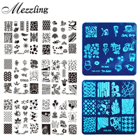 10pcs Square Nail Art Stamp Stamping Plate 6 2cm Polish Design Print Manicure Nail Template