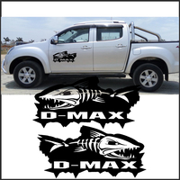 Car exterior 2PC Piranhas sticker decal vinyl off road 4x4 for dmax adventure mud Car stickers