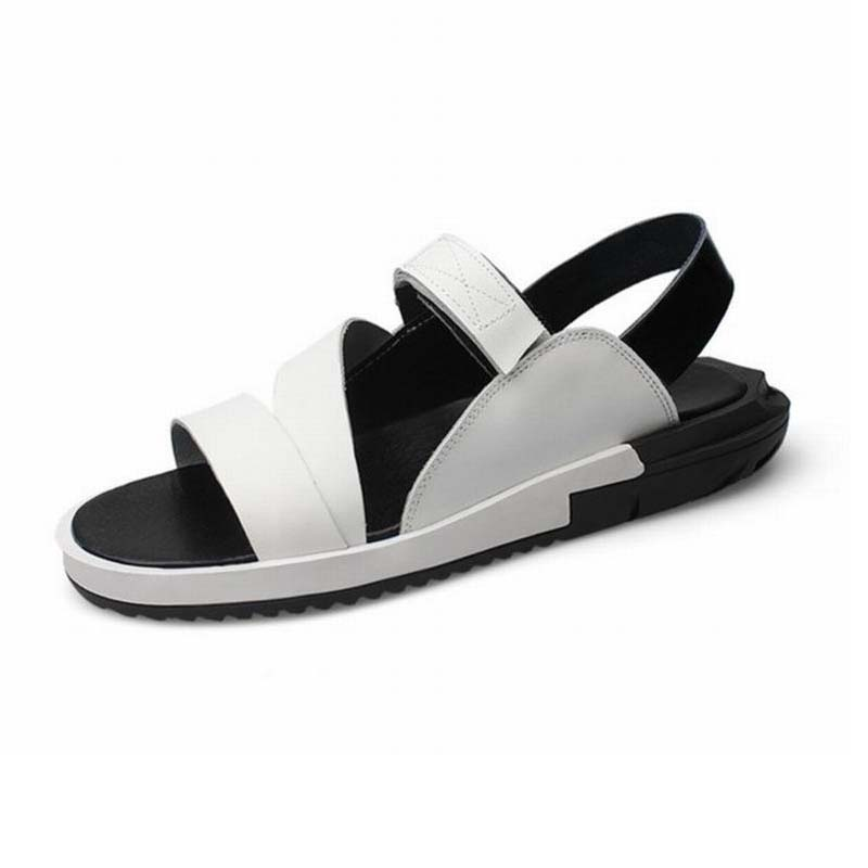 2017 Beach Men Sandals Slippers Genuine Leather Casual MenS Summer Shoes Gladiator Sandals For Man Sandalias Hombres