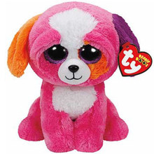 "Pyoopeo Ty Beanie Boos 10"" 25cm Precious the Dog Plush Medium Soft Big-eyed Stuffed Animal Collection Doll Toy with Heart Tag(China)"