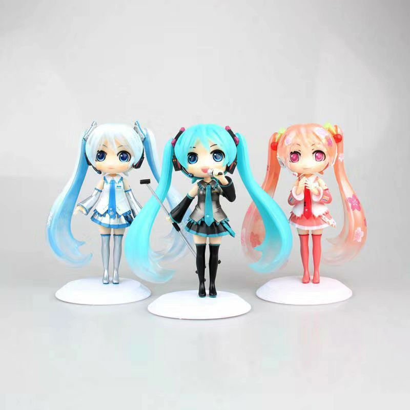 Anime Q Posket Hatsune Miku Snow Miku Sakura Miku Figure Figurine figurine