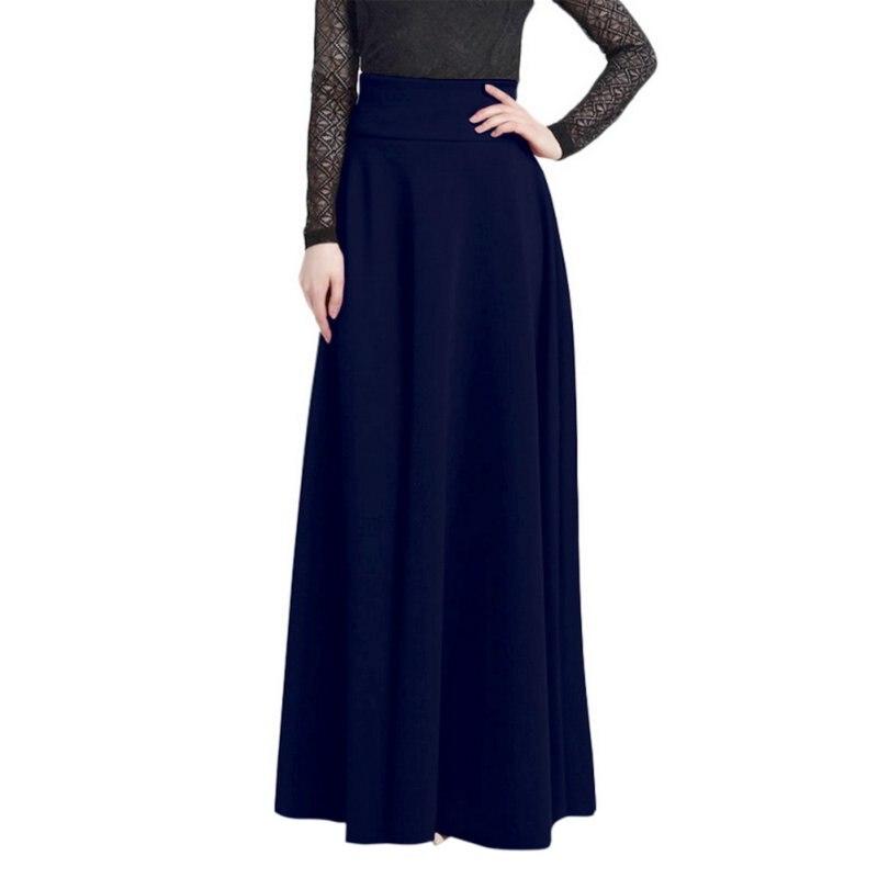 oioninos sweety Store Oioninos Women Fashion Ladies Jupe High Waist Pleat Elegant Skirt Wine Red Black Solid Color Long Skirts Women Faldas Saia