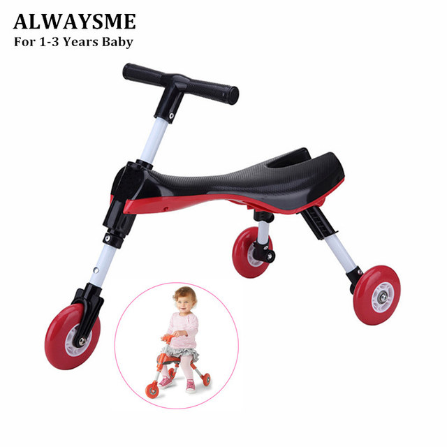 Scooter de bicicleta voladora ALWAYSME plegable para niños en interior al aire libre Triciclo de deslizamiento en juguete ruedas No rayadas No se requiere montaje