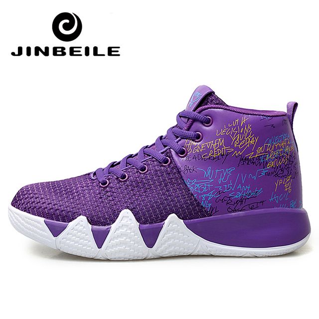 2019 Summer Cushioning Basketball Shoes High Popular Purple Red Comfortable Sneaker Outdoor Cheap Sport Boots basquete retro Men