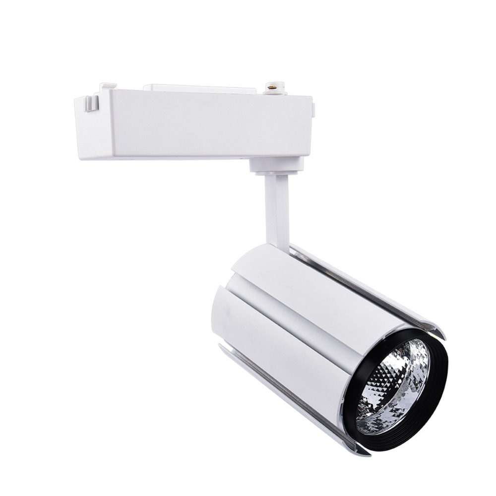 matte source project head track step linear integrated dimmable pd light led white shop lighting