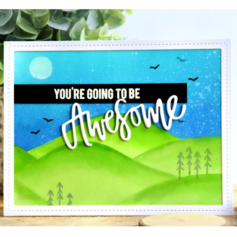 Landscape Painting Sheets Plastic Stencil for DIY Scrapbooking Embossing Drawing Paper Cards Decorative Crafts Supplies New 2018