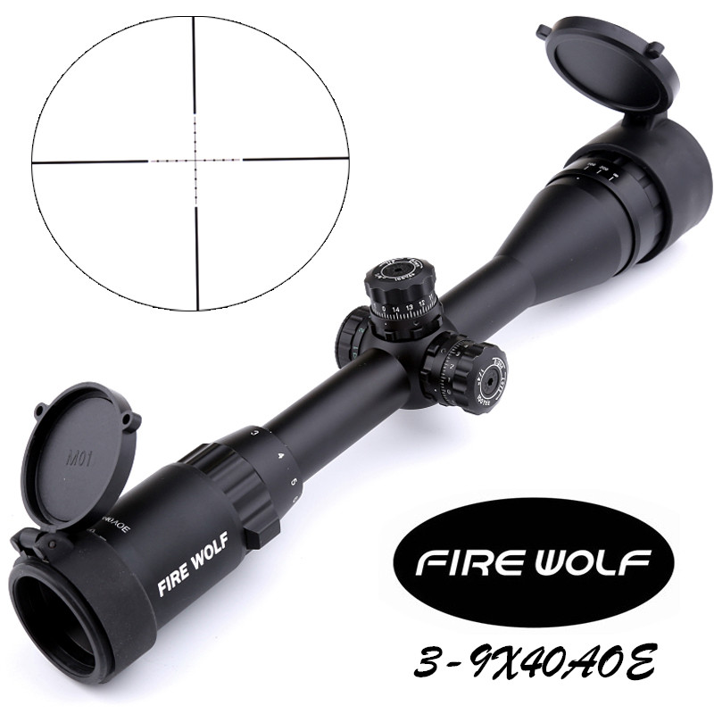 2017 NEW Fire Wolf Silver 3-9x40AOE Riflescopes Rifle Scope Hunting Scope fits for 11mm/20mm Rail Free Shipping fyzlicion hunting fire wolf 6 24x60 m1 riflescopes rifle scope scope free shipping