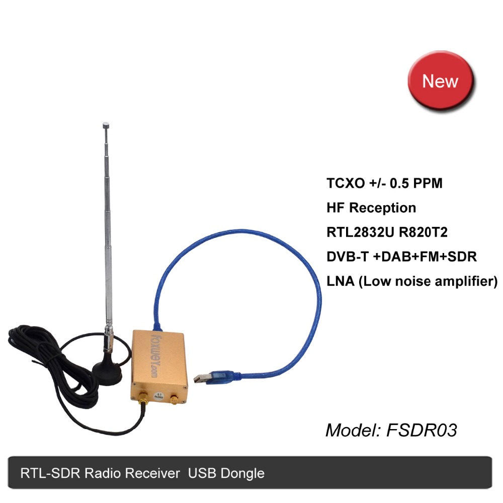 Best SDR RTL2832U R820T2 HF reception TXCO 0 5 PPM SMA software defined radio Low Noise