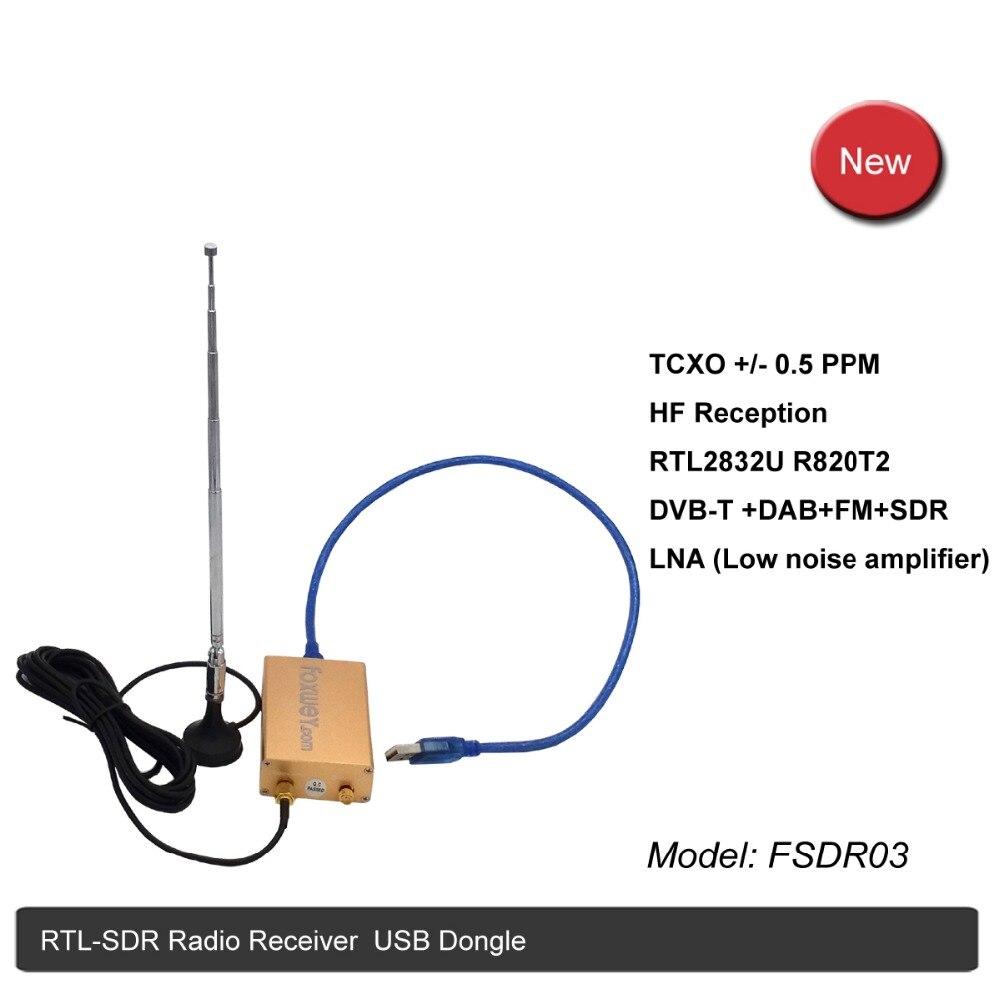 Meilleur SDR RTL2832U R820T2 HF réception TXCO 0.5 PPM SMA logiciel défini radio amplificateur à faible bruit