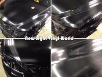 Black 5D Carbon Fiber Vinyl Car Body Wrap Film Sticker Air Free Bubble For Car Vehicle Wrapping