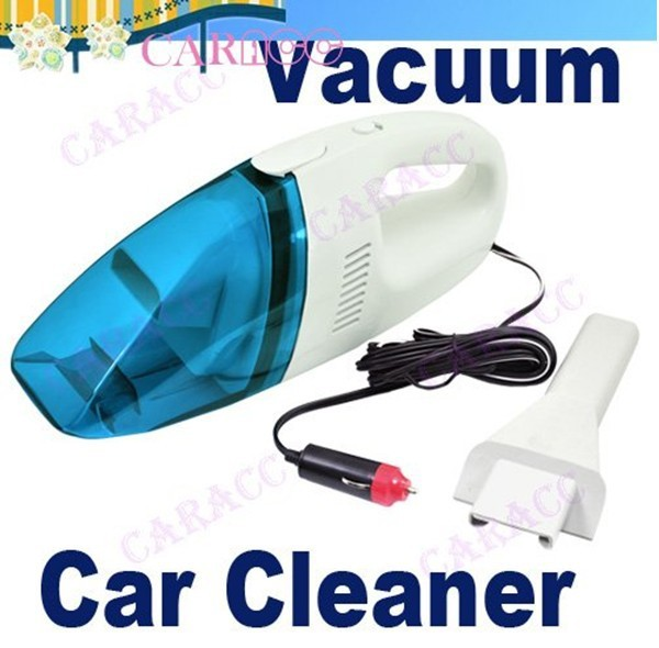 Brad New arrival 60W Mini 12V High-Power Portable Handheld Car Vacuum Cleaner Blue/Pink+White Color Free / Drop  Shipping