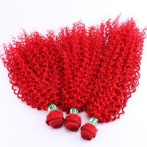 Color Red Afro Kinky Curly Hai