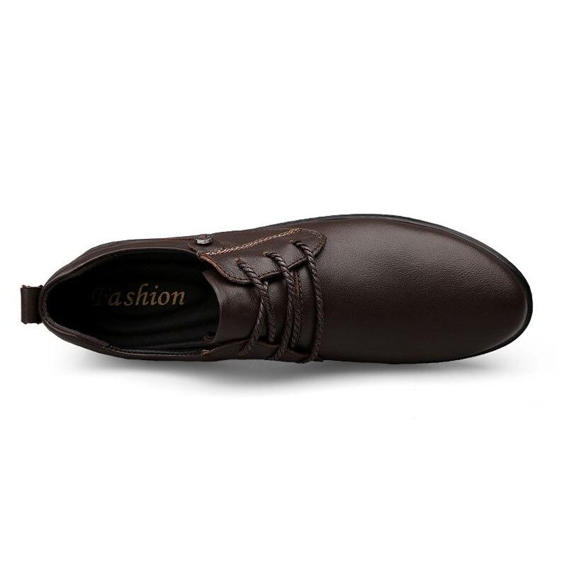 Masculinos Preto Do 37 Redondo Lebaluka marrom Qualidade Dedo Size Vintage 46 Lazer Calçado Negócios Apartamentos Genuíno Couro De Sapatos Casuais Plus Pé Alta 6IHq1wI