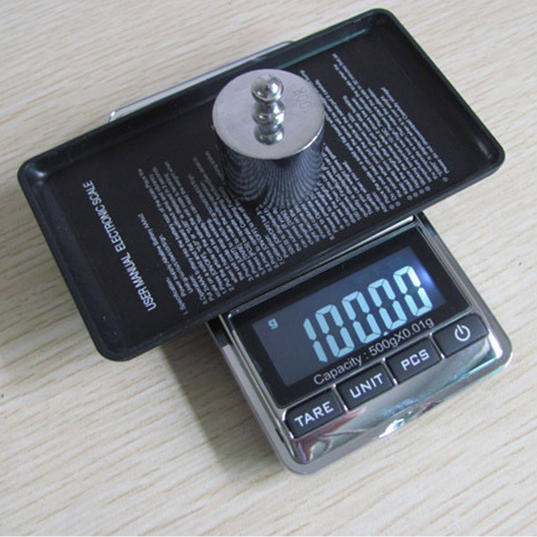 200g/500g 0.01 Accuracy Electronic <font><b>Scale</b></font> Precision Portable Pocket LCD <font><b>Digital</b></font> Jewelry <font><b>Scales</b></font> <font><b>Weight</b></font> Balance Kitchen Gram <font><b>Scale</b></font> image