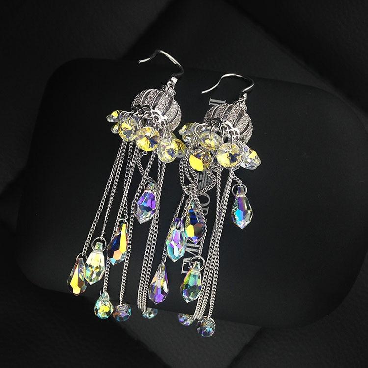 Long tassel earrings Korean female temperament earrings long tassel earrings