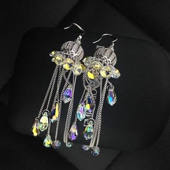 Long tassel earrings Korean female temperament earrings